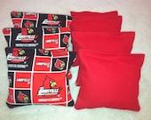 University of Louisville Cardinals Cornhole Bags ACA CERTIFIED