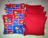 KU University of Kansas Jayhawks Cornhole Bags Set of 8