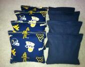 WVU West Virginia University Mountaineers Cornhole Bags Set of 8