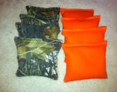 Real Tree Camouflage Camo Cornhole Bags Set of 8