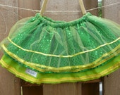 Green and Yellow Fabulously Sequined Tutu by Delighted- 15 inch elastic waist