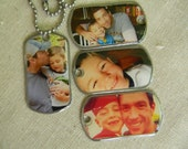 custom made dog tags embossed on one side with your name/quote and the other with your picture.