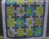 Sophisticated boy crib quilt