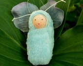 Baby blue fairy baby ornament