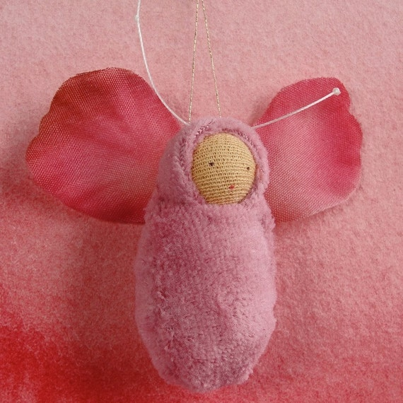 Rose fairy baby ornament