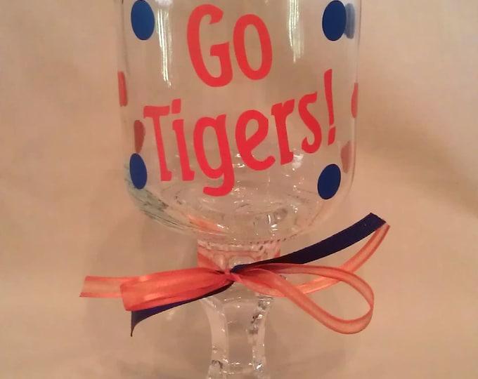 AUBURN University GO TIGERS Redneck Wine Glass for Auburn Tigers fans