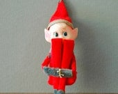 Mid Century Christmas Ornament - Knee Hugger Elf