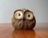 Vintage Japanese Stoneware Owl Figurine - RESERVED