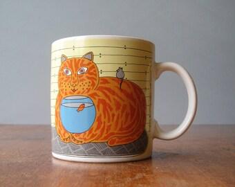 Original Vintage Taylor Ng Mug Classy Critters Cat