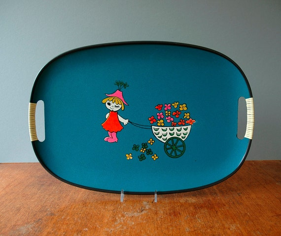 Large Mid Century Serving Tray
