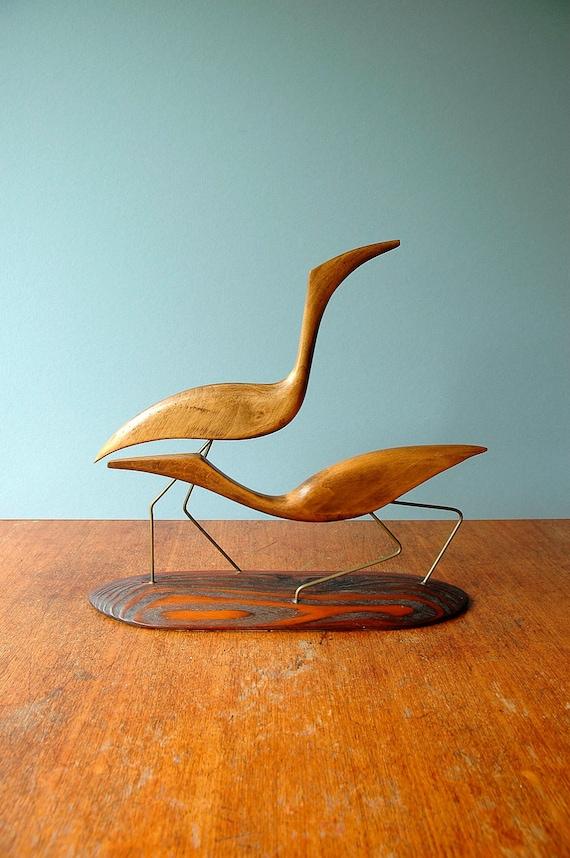 Mid Century Modern Shore Bird Sculpture Discounted