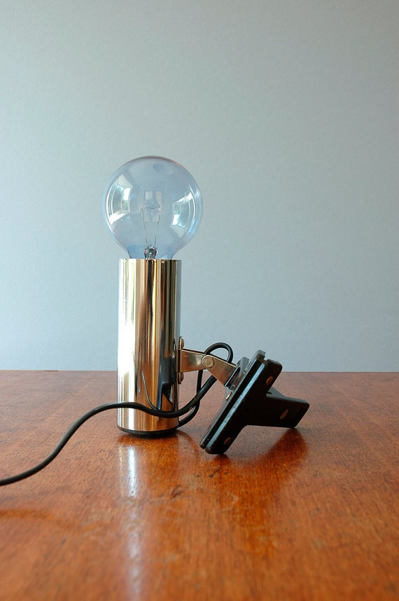 Vintage Targetti Mod Chrome Clamp Lamp - RESERVED