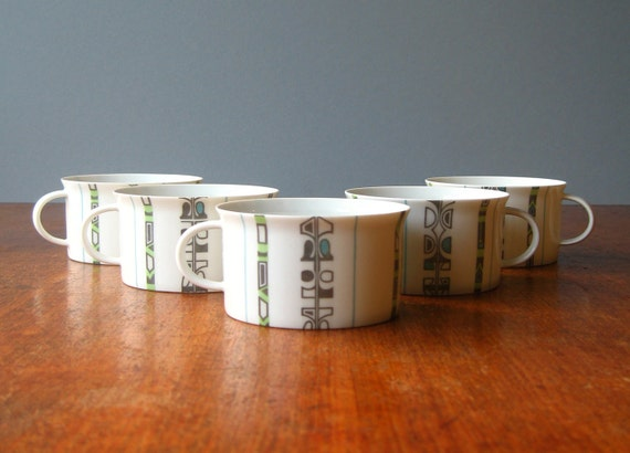 Five Vintage Rosenthal Cups - Continental Greenwood