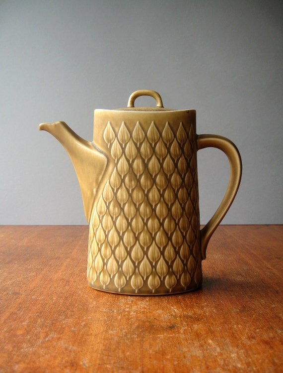 Vintage Nissen Relief Danish Modern Coffee Pot