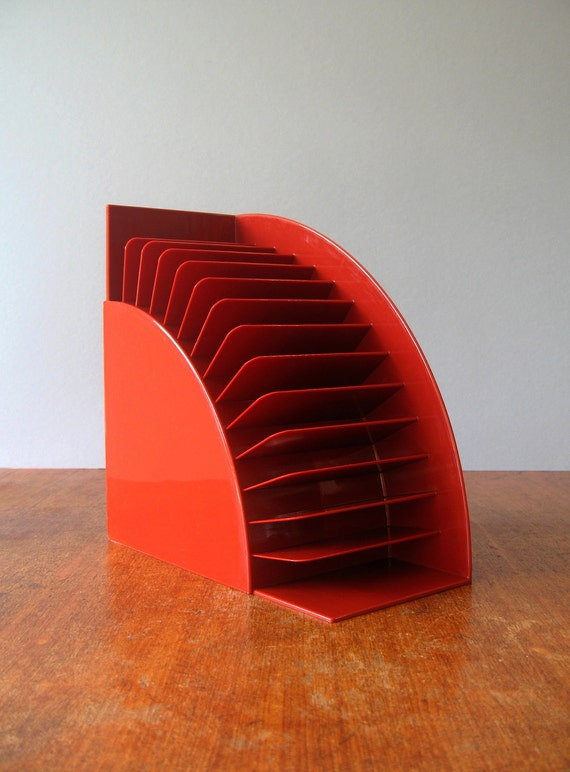 Mod Plastic Crayonne Cassette Holder / Bookend - Pair RESERVED