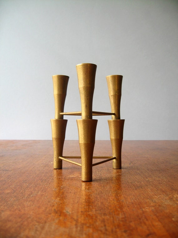 Vintage Brass Modular Candle Holders