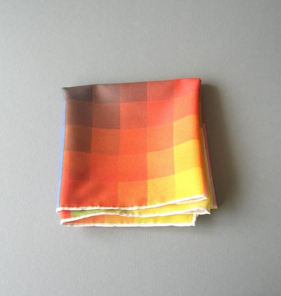 Vintage Scarf - Gradient Color Blocks