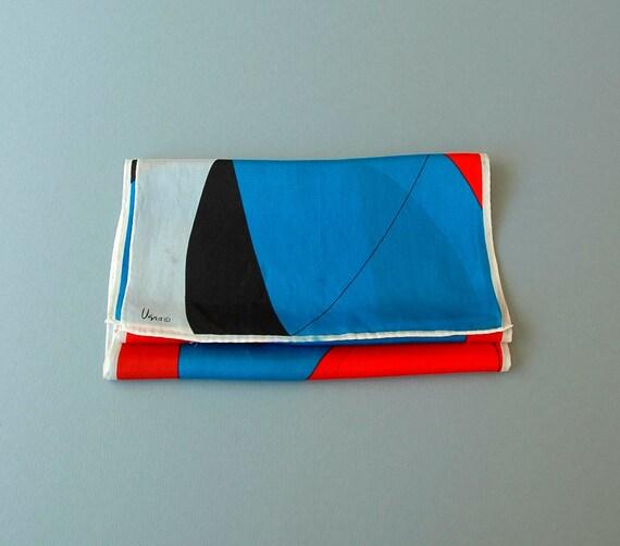 Vintage Vera Silk Scarf - Long Abstract Modernist