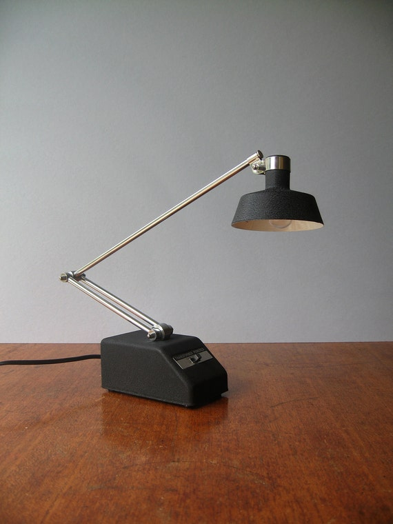 Vintage Tensor Desk Lamp Black And Chrome By Luola On Etsy