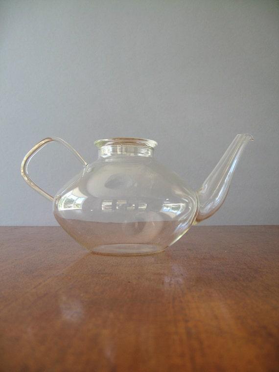 Vintage Modern Glass Teapot - Schott Verran