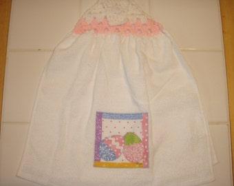 Crochet Top Easter Double Dish Towel