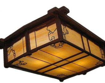 Greene and Greene inspired lighting fixture