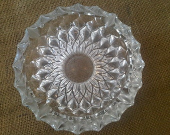 Vintage Sunburst Glass Ashtray