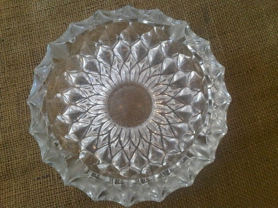 Vintage Sunburst Glass Ashtray