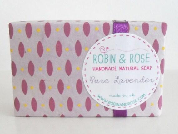 Pure Lavender Natural Handmade Soap Bar 75g