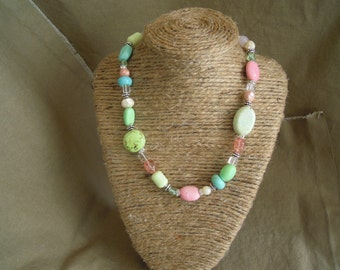 Sterling Silver Pastel Necklace