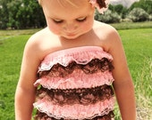 Light Pink and Brown Romper