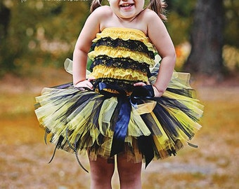 Bumble Bee Costume Halloween Petti Romper