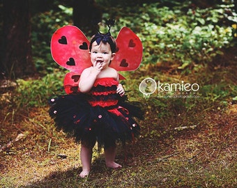 Lady Bug Costume Petti Romper