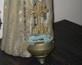 SALE Antique Cherubs Holy Water Font Brass SALE