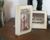 Antique French Celluloid Bible Prayer Book with Case 1950's