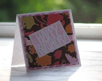 SALE! Deep in the Jungle - Birthday Greeting Card