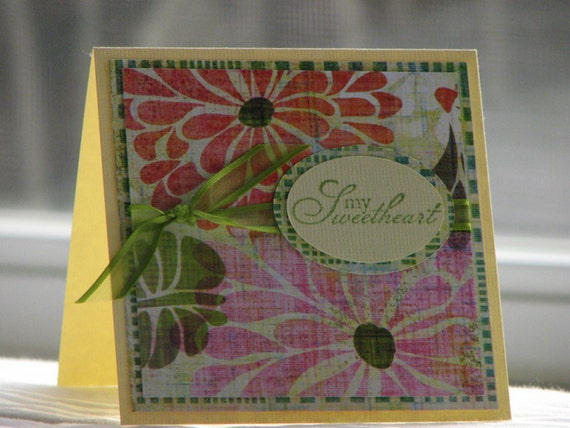 My Sweetheart Sweet and Simple Floral Greeting Card