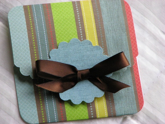 Bright Stripes Gift Card Holder
