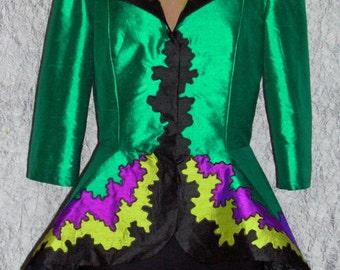 Fabulous Evening Jacket With Peplum Custom Made For You