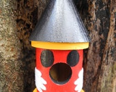 Mickey Mouse Inspired, Decorative Wooden Birdhouse, Ornament