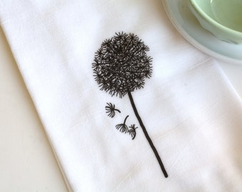 Tea Towel Kitchen Home Decor Flour Sack Towel Dandelion