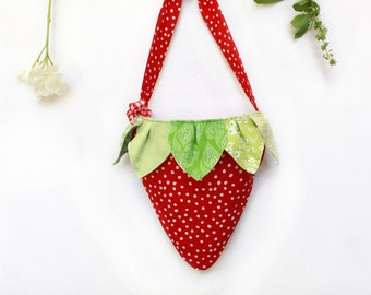 Strawberry Purse Tote Bag For Girls, Gift For Children,  Kids Bag, Accessories, Handbag