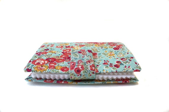 Needle Case Book, Liberty of London Fabric covered Needle Book, Sew, Organize