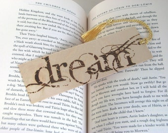 Wooden bookmark - Hand Pyrography - Dream
