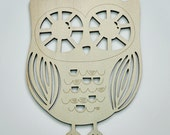 Champagne Colored Wooden Night Owl Decoration
