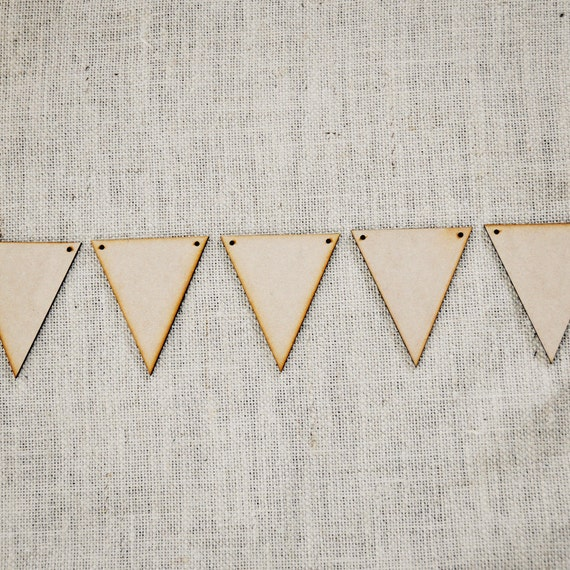 Items similar to Large DIY Wooden Pennant Banners - Set of 15 on Etsy