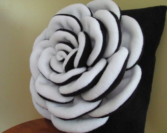 Decorative Pillow VICTORIA ROSE Flower Pattern Flower Pillow Pattern with 2 Bonus Pillow Covers Tutorial PDF ePattern How To