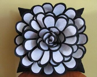 Felt Flower Pillow Pattern DAISY ROSE Felt Flower Throw Pillow Cover Pattern with 2 Bonus Pillow Covers Tutorial Pattern PDF ePattern How To