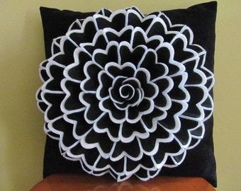 Decorative Pillow Felt Flower Pillow Pattern ISABELLA FLOWER Felt Flower Pattern with 2 Bonus Pillow Cover Patterns Tutorial PDF ePattern