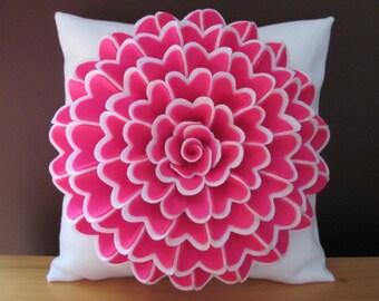 Felt Flower Pillow Pattern ISABELLA FLOWER Pillow Pattern with 2 Bonus Pillow Cover Patterns Tutorial PDF ePattern How To